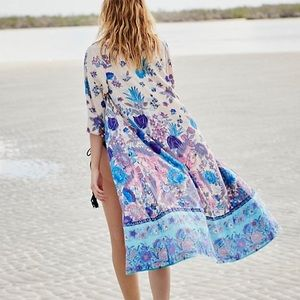 Other - Floral Blue KIMONO Siren Song Duster Coverup NEW